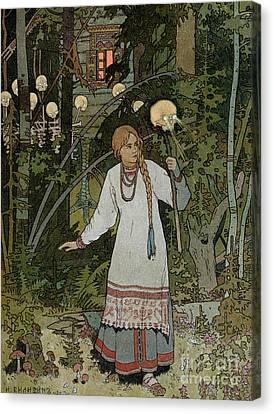 Ghost Story Canvas Print - Vassilissa In The Forest by Ivan Bilibin