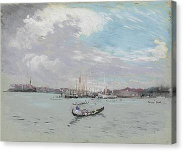 Vast Lagoon Outside Venice Circa 1901 Canvas Print by Aged Pixel
