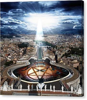 Vatican Rocking View Canvas Print by Marian Voicu