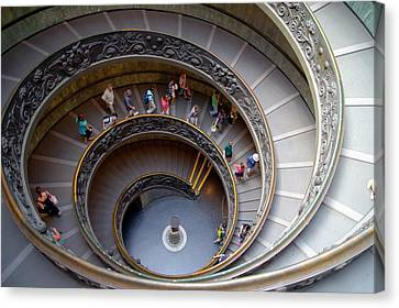 Helical Canvas Print - Vatican Spiral Staircase. by Mark Williamson