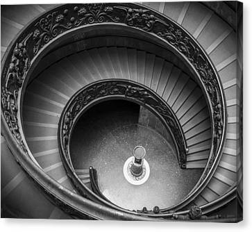 Vatican Stairs Canvas Print by Adam Romanowicz