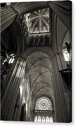 Vaults Of Rouen Cathedral Canvas Print by RicardMN Photography