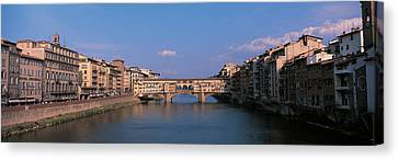 Historic Architecture Canvas Print - Vecchio Bridge Florence Italy by Panoramic Images