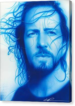 Pearl Jam Canvas Print - Vedder by Christian Chapman Art