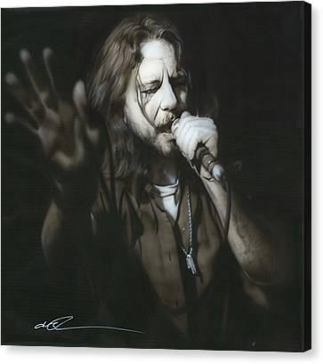 Eddie Vedder - ' Vedder IIi ' Canvas Print by Christian Chapman Art
