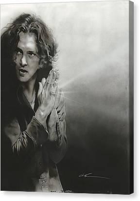 Eddie Vedder - ' Vedder Iv ' Canvas Print by Christian Chapman Art