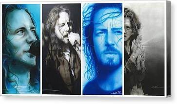 Pearl Jam Canvas Print - Vedder Mosaic I by Christian Chapman Art