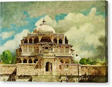 Vedi Temple In Kambalgarh Fort Canvas Print by Catf