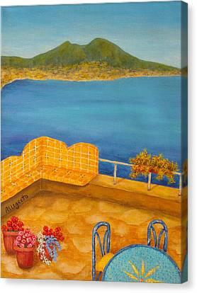 Veduta Di Vesuvio Canvas Print by Pamela Allegretto