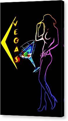 Vegas Girls Canvas Print by Steve K