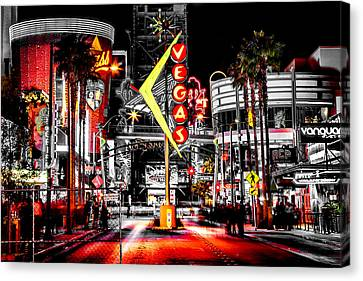 Vegas Nights Canvas Print by Az Jackson