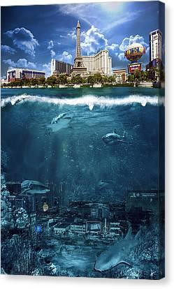 Las Vegas Sharks Canvas Print