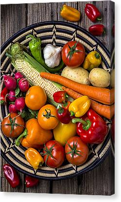 Tomato Canvas Print - Vegetable Basket    by Garry Gay