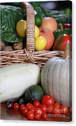 Vegetable Basket Canvas Print by Kelly Jones