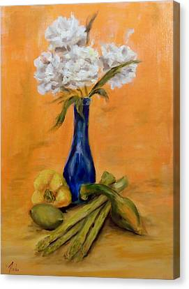 Vegetable Flower Still Life Canvas Print
