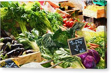 Vegetables For Sale  Canvas Print by Garland Johnson