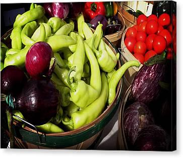 Vegetables Organic Market Canvas Print by Julie Palencia