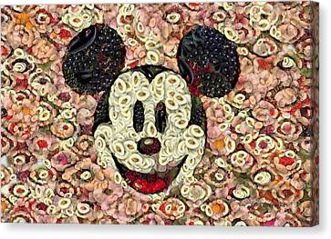 Veggie Mickey Mouse Canvas Print by Paulette B Wright