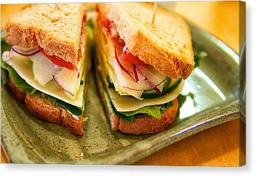 Veggie Sandwich Canvas Print