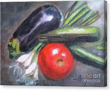 Veggies Canvas Print by Addie Hocynec