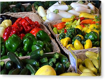 Farm Stand Canvas Print - Vegi Paradise by Ronald T Williams