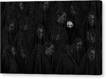 Hidden Face Canvas Print - Veil by