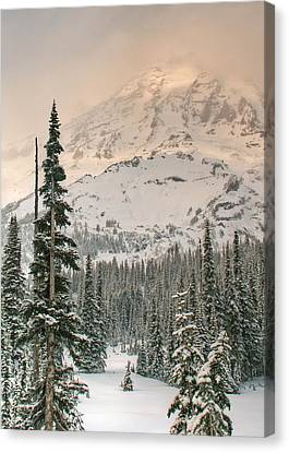 Canvas Print featuring the photograph Veiled Mountain by Jeff Cook