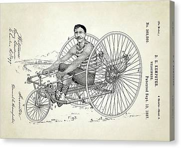 Velocipede Patent Canvas Print by Us Patent And Trademark Office
