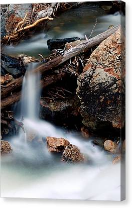 Velvet Falls - Rocky Mountain Stream Canvas Print by Steven Milner