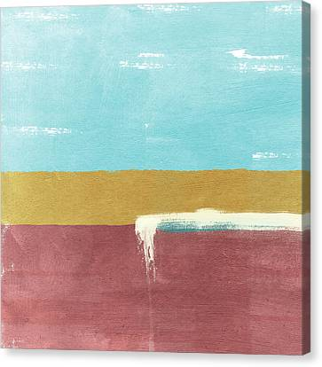 Velvet Horizon- Abstract Landscape Canvas Print by Linda Woods