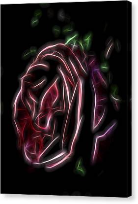 Canvas Print featuring the digital art Velvet Rose 1 by William Horden
