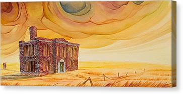 School Houses Canvas Print - Venanda by Scott Kirby