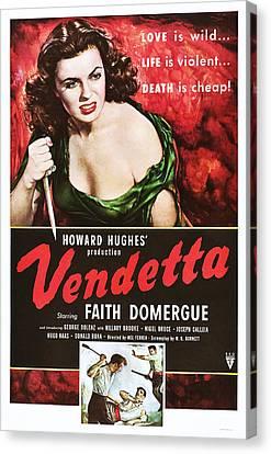 Vendetta, Top Faith Domergue, 1950 Canvas Print by Everett