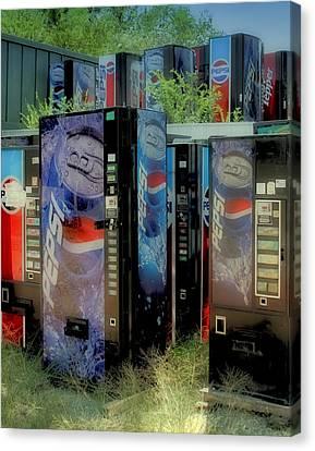 Vending Machine Graveyard II Canvas Print