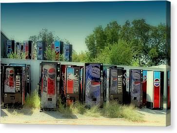 Vending Machine Graveyard Canvas Print