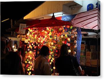 Vendors - Night Street Market - Chiang Mai Thailand - 011311 Canvas Print
