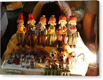 Vendors - Night Street Market - Chiang Mai Thailand - 011329 Canvas Print by DC Photographer