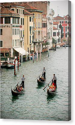 Canvas Print featuring the photograph Venice by Silvia Bruno