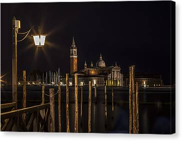 Venice San Giorgio Maggiore At Night Canvas Print by Melanie Viola