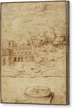 Venetian 16th Century, Probably Titian Italian Canvas Print by Quint Lox