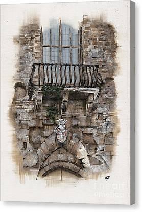 Venetian Balcony 02 Elena Yakubovich Canvas Print by Elena Yakubovich