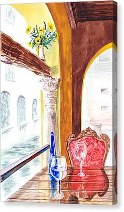Venetian Cafe Canvas Print by Irina Sztukowski