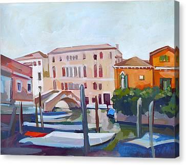 Italian Landscape Canvas Print - Venetian Cityscape by Filip Mihail