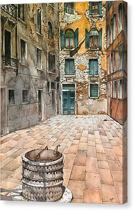 Venetian Courtyard 02 Elena Yakubovich Canvas Print