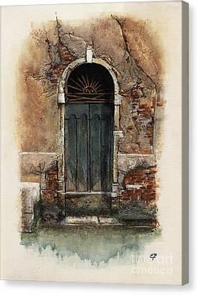 Venetian Door 01 Elena Yakubovich Canvas Print