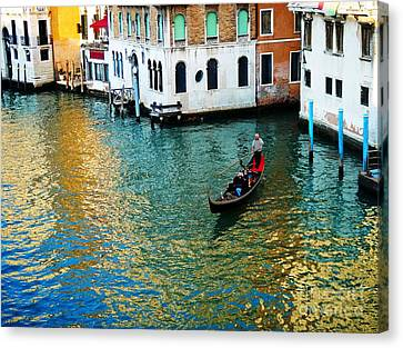 Venetian Gondola Canvas Print by Phillip Allen