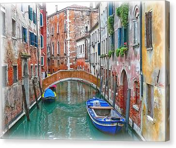 Canvas Print featuring the photograph Venetian Idyll by Hanny Heim