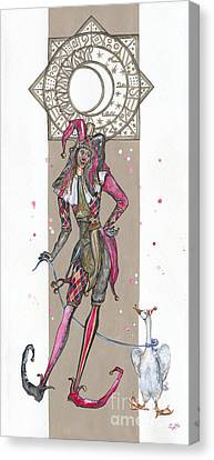 Venetian Jester - Elena Yakubovich Canvas Print by Elena Yakubovich