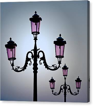 Venetian Lamps Canvas Print by Dave Bowman
