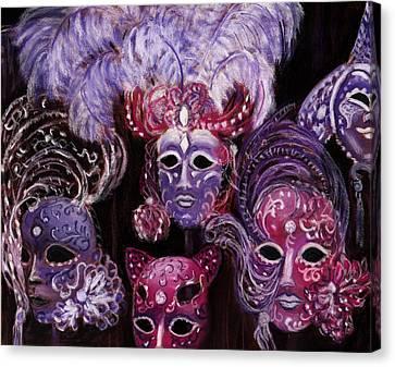 Venezia Canvas Print - Venetian Masks by Anastasiya Malakhova